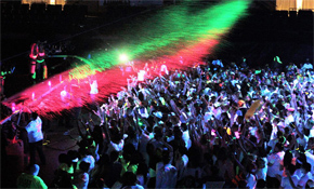Glo Hard 2018 Ariel View of event